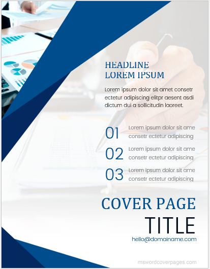 annual report cover pages ms word