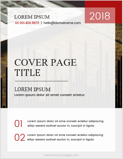 Cover page sample