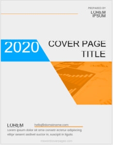 Cover page sample template