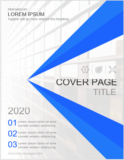 Cover page sample for MS Word