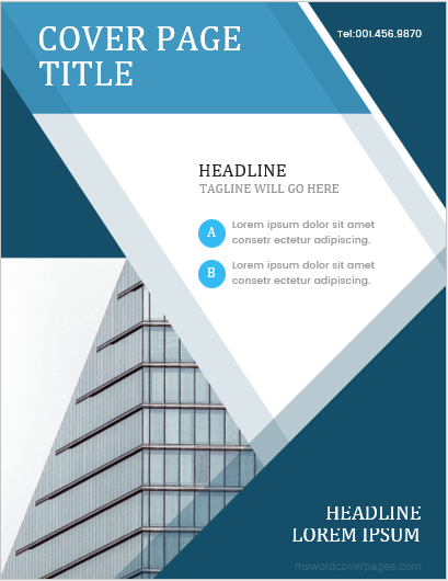 10 Best Report Cover Page Templates For Businesses Ms Word Cover Page Templates