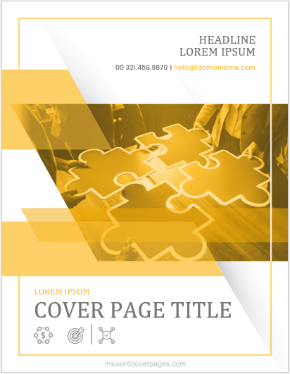 Report cover page design sample
