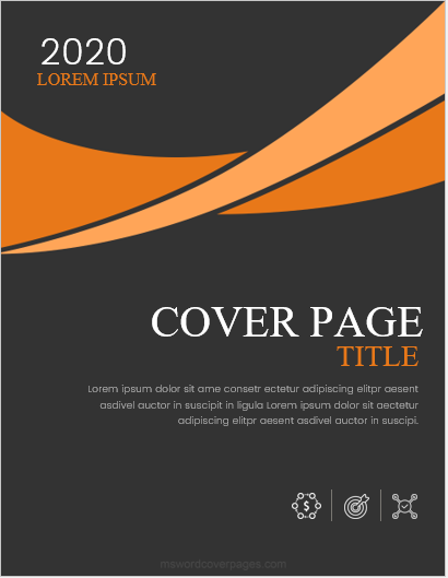 Report cover page design template
