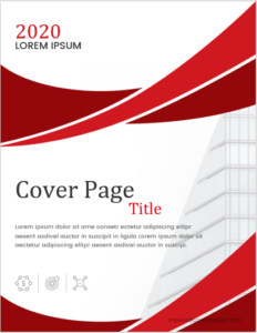 Report cover page design