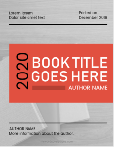 Editable book title page template