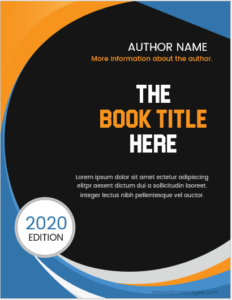 Sample Book Cover Page Design
