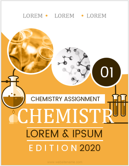 Chemistry assignment cover page template