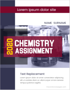 Chemistry assignment cover page sample
