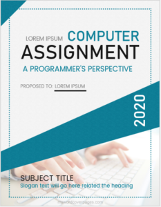 Computer assignment cover page sample