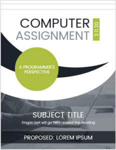 Assignment cover page sample
