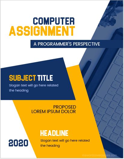 academic cover page template