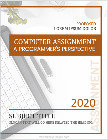 Computer subject assignment cover page template