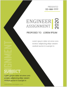 Engineering assignment cover page template