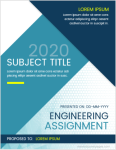 Engineering assignment cover page sample