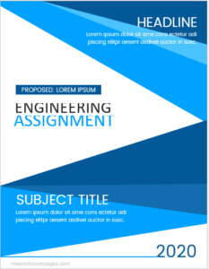 Cover page for engineering assignment
