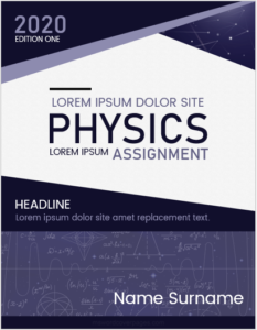 Physics assignment cover page