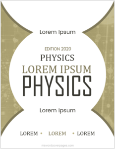 Sample physics assignment cover page