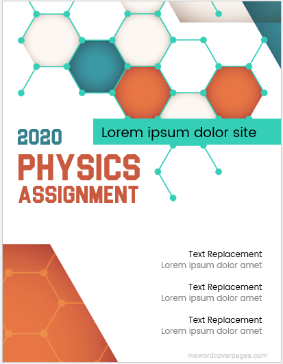 Physics assignment cover page template