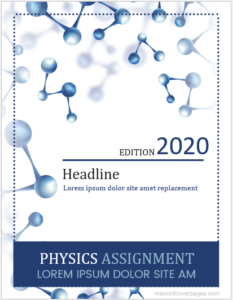 Physics assignment cover page format