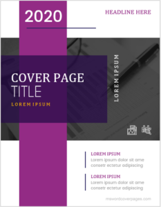 MS Word Cover Page Template