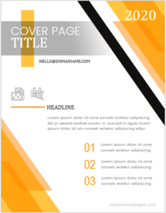 Professional Cover Page Template