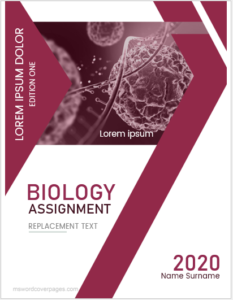 Biology assignment cover page