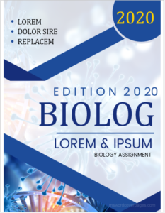 Biology assignment cover page template