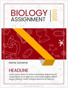 Cover page for Biology assignment