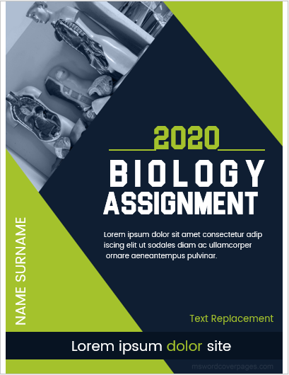 Biology assignment cover page sample