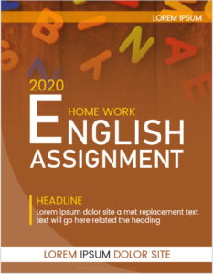 English assignment cover page sample