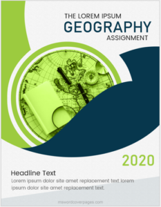 Geography assignment cover page