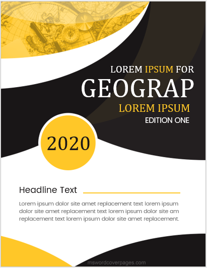 Geography assignment cover page sample