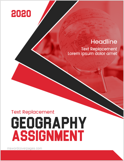 Geography assignment cover page format