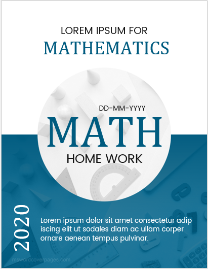 5 Best Editable Mathematics Assignment Cover Pages Ms Word