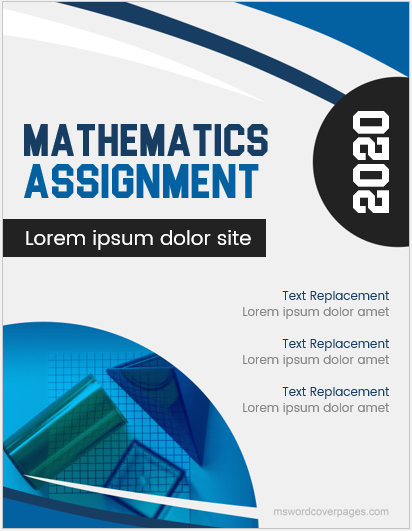 Math Assignment Cover Page