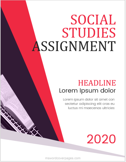 Social study assignment cover page
