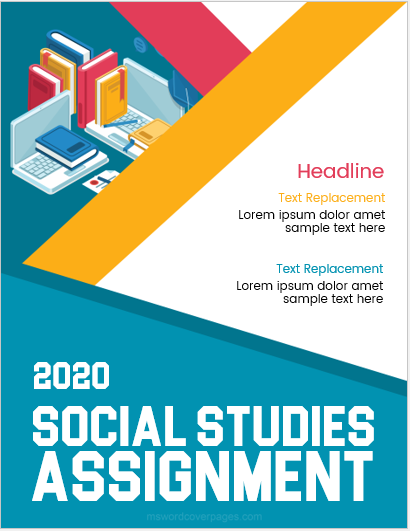 Cover page sample for social study assignment
