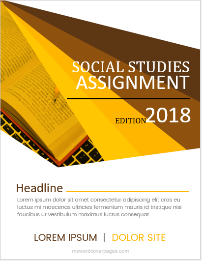 Assignment cover page format