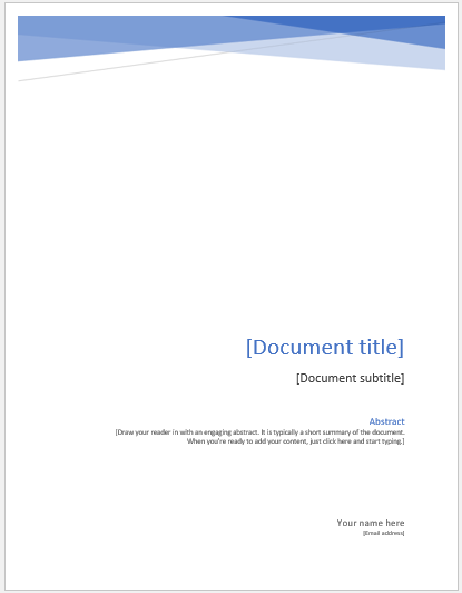 University Assignment Cover Page Templates Ms Word Cover