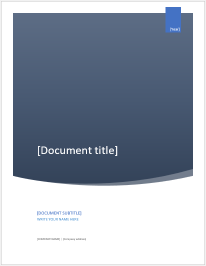 University assignment cover page template