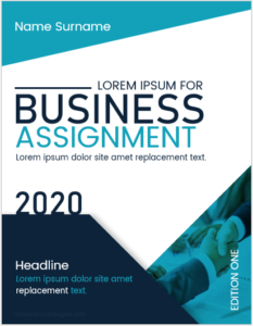 Business assignment cover page
