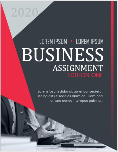 Sample Business Assignment Cover Page