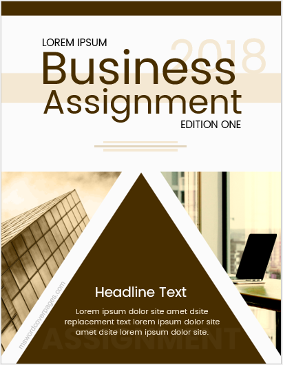 Cover page for business assignment