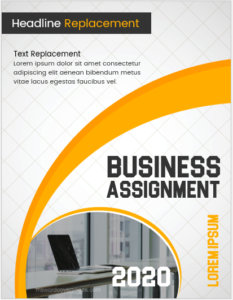 Business assignment cover page template