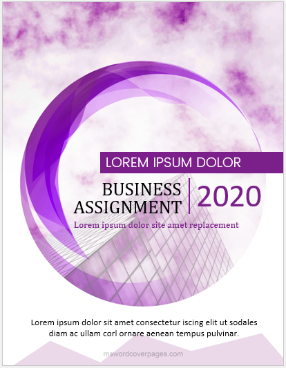 Business assignment cover page format