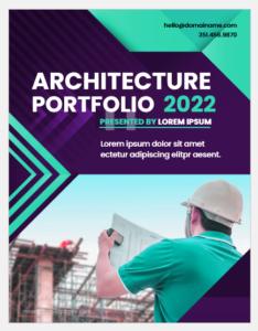 Architecture portfolio cover page