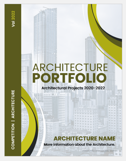 Architecture portfolio cover page template