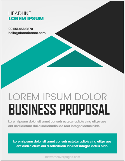 Business proposal cover page format