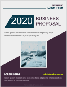 Business proposal cover page MS Word