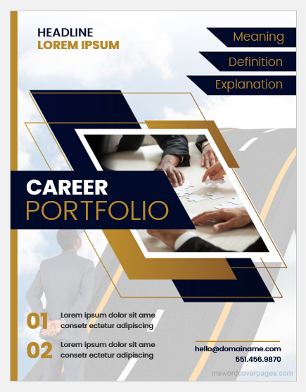 Career Portfolio Cover Page Templates (Word) | MS Word Cover